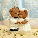 Cartoon Romantic Wedding Couple Teddy Bear Charming Gifts Party Candles Smokeless Candles Birthday Candles for Baby Shower and Wedding Favor Keepsake Favor (10)