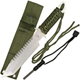 Survivor HK-106280 Outdoor Fixed Blade Knife 11-Inch Overall