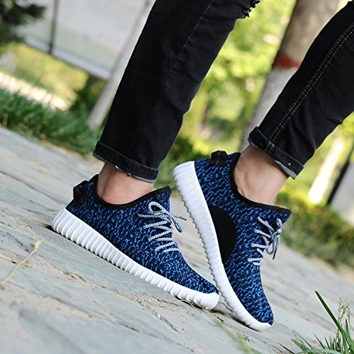 Blue Walking Summer Mesh 2017 Comfortable New Jacky's Men Breathable Loafers up Lace Lightweight x70qtw