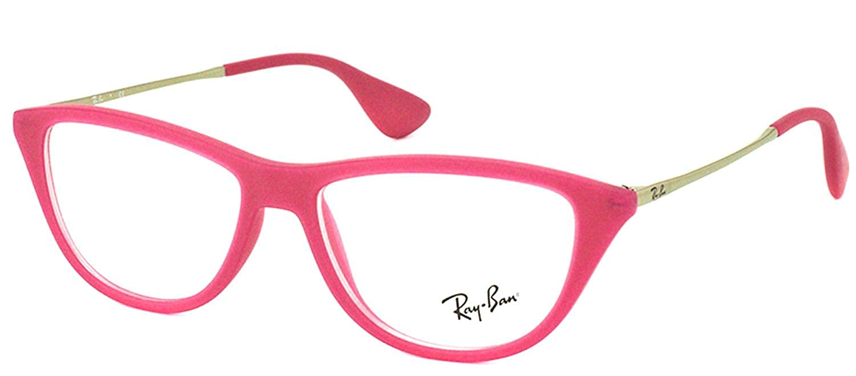 Amazon.com: Ray Ban rx7042 5471 Fushia pink Marco Plateado ...