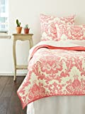 Amity Home Dorie Quilt Set, Twin, Coral