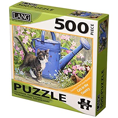 LANG Gardener's Assistant - Cat 500 Piece Jigsaw Puzzle: Office Products