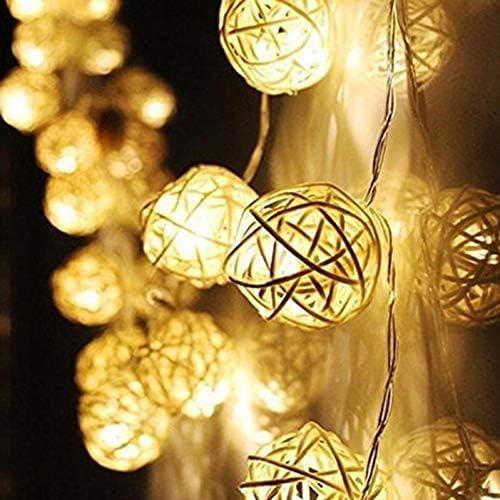10M Led Bola De Ratán Cadena De Luces Sepak Takraw Luces De Cortina De Hadas Guirnalda De Navidad Para Decoraciones De Banquete De Boda De Jardín