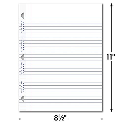 Five Star Loose Leaf Paper, 3 Hole Punched, Reinforced Filler Paper, College Ruled, 11'' x 8-1/2'', 100 Sheets/Pack, 1 Pack (17010) by Five Star (Image #5)