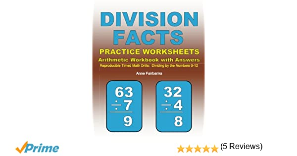 Division Facts Practice Worksheets Arithmetic Workbook with ...