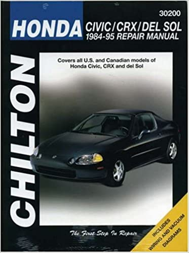 Honda civic crx and del sol 1984 95 repair manual chilton honda civic crx and del sol 1984 95 repair manual chilton automotive books 1st edition sciox Images
