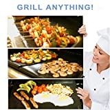Bundle of 3 Sets - BBQ Grill Mat by Chef Caron - Each Set with Two Heavy-Duty Grilling Sheets - Nonstick, Ultraslick, Extra Thick .25mm