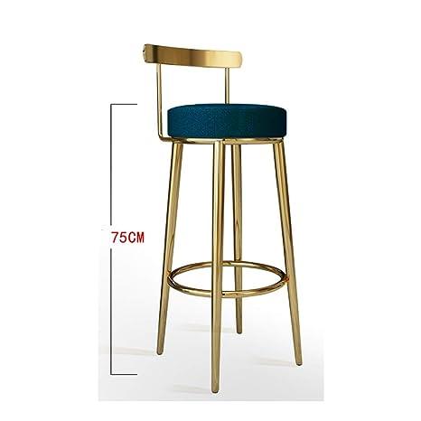 Amazing Amazon Com Ye Zi Bar Chair Metal Restaurant Backrest High Gamerscity Chair Design For Home Gamerscityorg