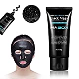 Mabox New & Improved Formula With Activated Charcoal Deep Cleansing Purifying Peel-Off Black Face Mask,, Natural, Oil-Control, Blackhead Removing (50ml)