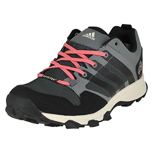 adidas outdoor Women's Kanadia 7 Gore-Tex Trail Running Shoe, Vista Grey/Black/Super Blush, 6 M US Review