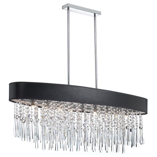 (Dainolite JMS368-PC-770 Josephine Oval Crystal Chandelier 8-Light Polished Chrome)