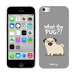 Head Case Designs What Piper The Pug Soft Gel Back Case Cover for Apple iPhone 5c