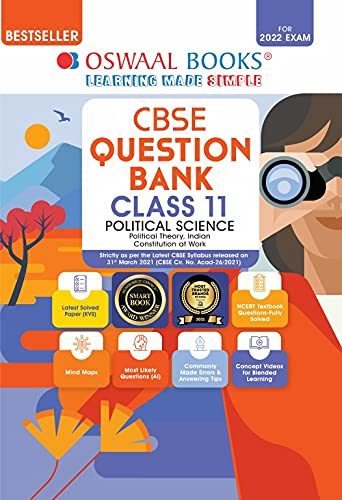 Oswaal CBSE Question Bank Class 11 Political Science Book Chapterwise & Topicwise (For 2022 Exam)