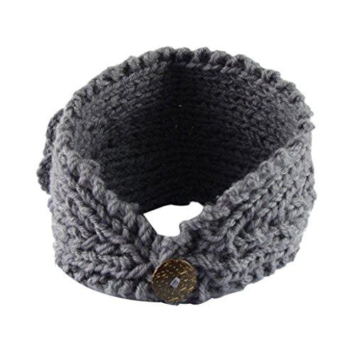 Tuscom Women Crochet Headband Knit Hairband Flower Winter Ear Warmer Head wrap -