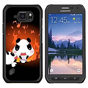 "For Samsung Galaxy S6 active / SM-G890 , S-type cvety vetochki uzory ornamenty"" - Arte & diseño plástico duro Fundas Cover Cubre Hard Case Cover"