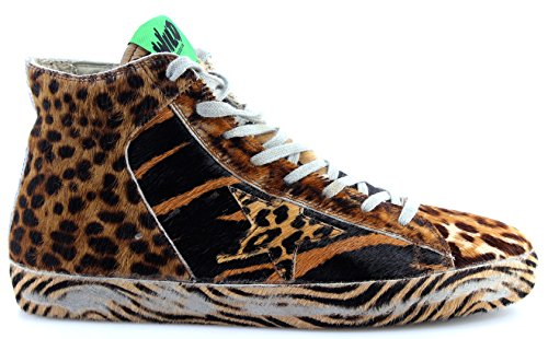 GOLDEN GOOSE Zapatos Hombres Sneakers G30MS591BWD Francy Brown Wild Ltd Ed Italy