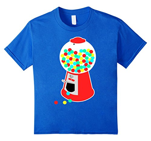 Kids Gumball Machine T-Shirt Vending Machine Candy Chewing Gum 4 Royal Blue