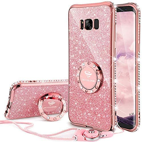 OCYCLONE Fundas para Samsung S8 Plus,Purpurina Ultra Slim Soft TPU ...