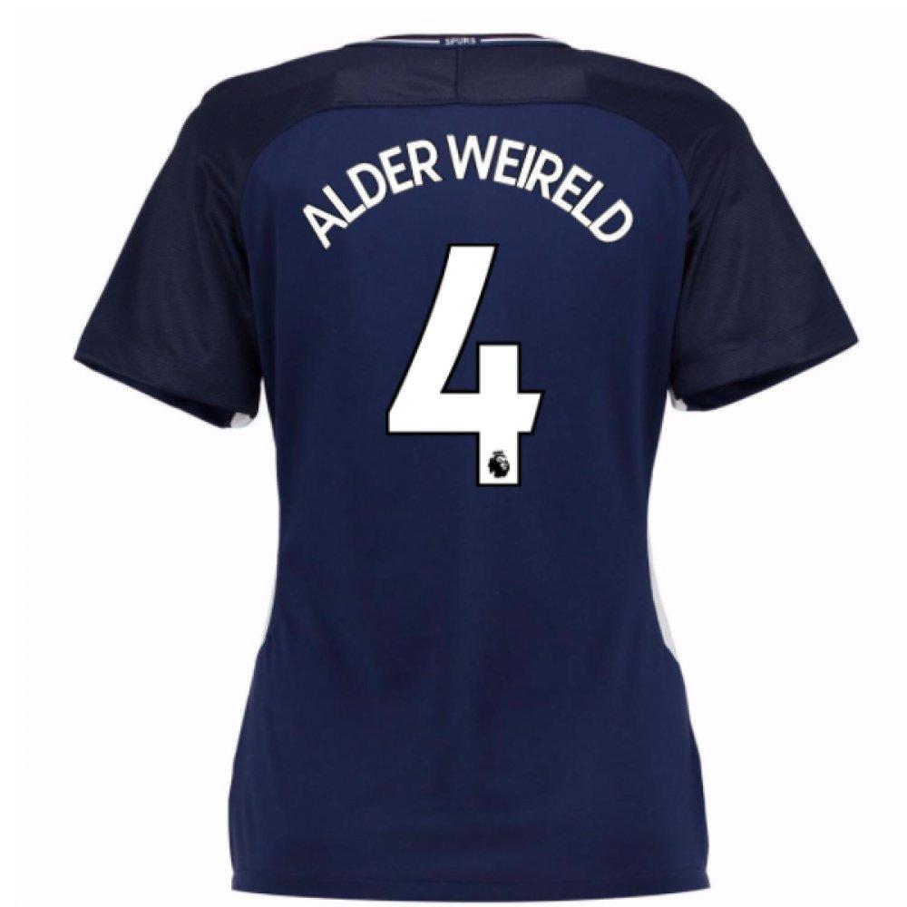 2017-18 Tottenham Damenschuhe Away Football Soccer T-Shirt Trikot (Toby Alderweireld 4)