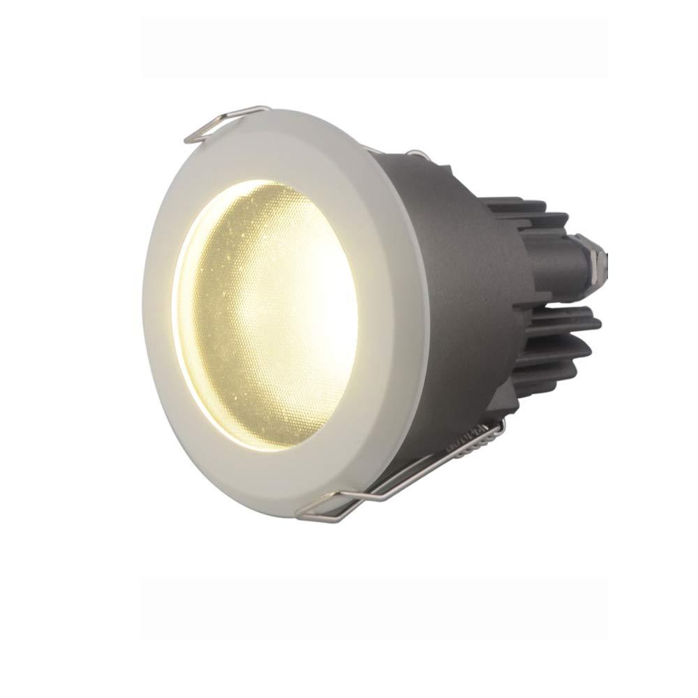 Modenny 8W Ultra Lumineux LED Plafonnier Downlight Encastré Mural Mur Projecteur Anti-dazzle Panneau Plat Downlight Lumière Cuisine Salle De Bains Anti-brouillard Plafond Lampe Pour Hôtel Corridor All