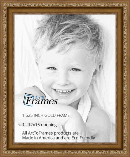 12x15 picture frame arttoframes 12x15 inch gold with beads wood picture frame 2womd1005112x15 amazoncom
