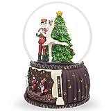 "6"" Nutcracker and Ballerina Dancing Around Christmas Tree Musical Snow Globe"
