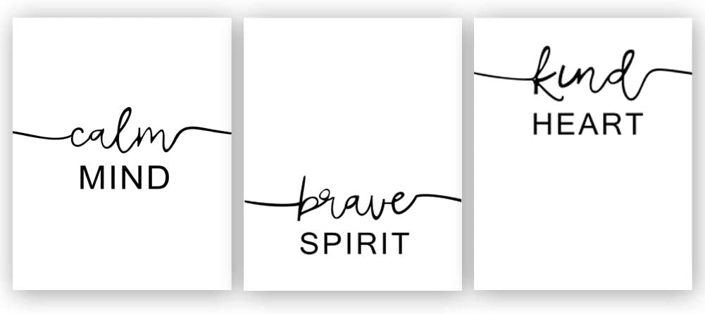 Inspirational Typography Art Print Painting, Letterings Cardstock Art Poster Motivational Quote Prints Wall Art Decor (set of 3, 8'' x 10'',Unframed)