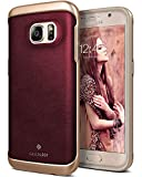 Ammsia Envoy for Galaxy S7 Case (2016) - Premium Leather - Leather Cherry Oak
