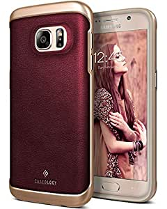 Caseology [Envoy Series] Galaxy S7 Case - [Premium Leather] - Leather Cherry Oak