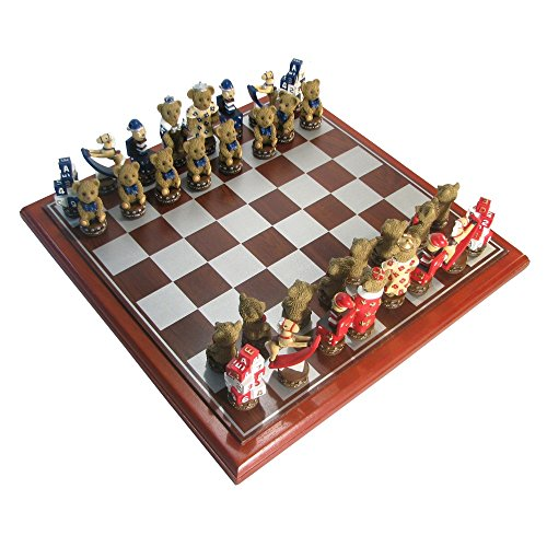 Sunnywood Hand Painted Polystone Teddy Bear Chess Set (Bear Chess Set)