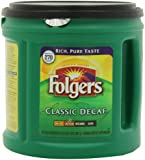 Folgers Classic Decaf Medium Roast - Makes 270 cups - 33.9oz (2lb 1.9oz) 961g