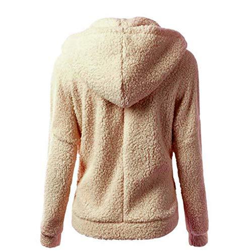 Jacket Cotone Braun Cappuccio Zipper Felpe Parka Da Di Solid Color Warm Donne Felpa Casual Cappotto Pullover Outwear Classiche Capispalla Winter Donna Con UMpzVqS