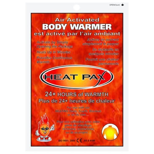 HEAT PAX BODY WARMERS - Air Activated - 24+ Hour - BOX OF 40