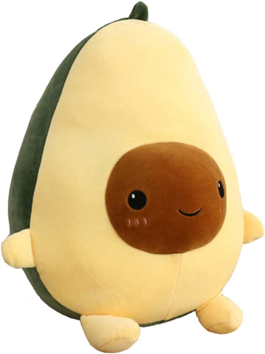 BOOBI Avocado Plush Doll Cute Toy Stuffed Pillow (9.8 in/13.7 in/23.6 in) Pretty Gift for Girl and Boy Friends (9.8 Inch)