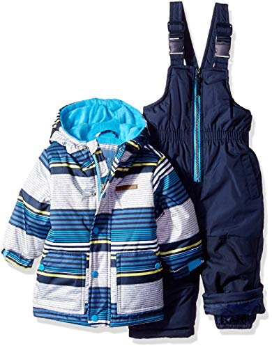 28f2f11b8 Wippette Baby Boys and Toddler Insulated Snowsuit, Striped Navy, 18M