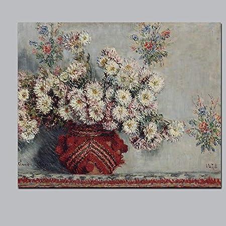 SILYHN HD Print Still Life Wild Crisantemos Florero Floral Pintura al óleo sobre Lienzo Arte Sofá Imagen de Pared para Sala de Estar