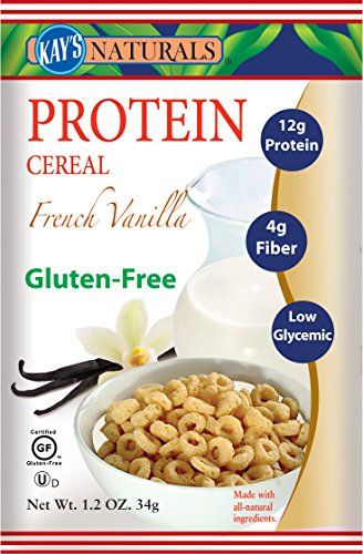 Vanilla Natural - Kay's Naturals Protein Cereal, French Vanilla, 1.2 ounces (Pack of 6)