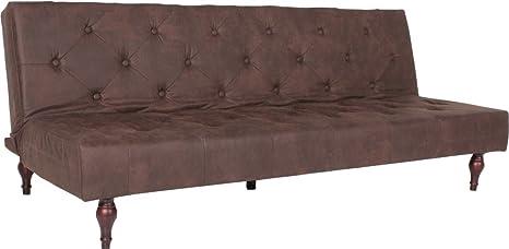 KAWOLA Divano letto divano VINTAGE Tessuto Chester field Style ...