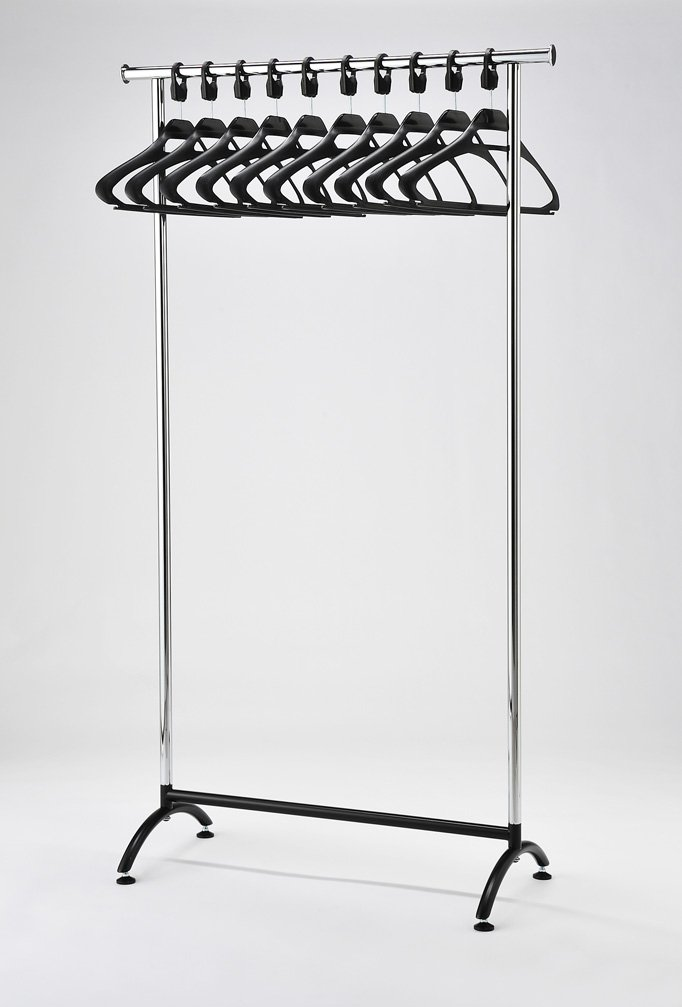 office coat rack. rack51 chrome coat stand office rack with black hangers amazoncouk products