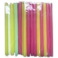 Verschillende heldere kleuren herbruikbare Jumbo Smoothie rietjes, Pack van 100 stuks 10mm brede zeepbel thee rietjes