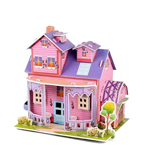 HOTUEEN Children DIY 3D Puzzle Cartoon House Kids Educational Toy 3-D Puzzles from HOTUEEN