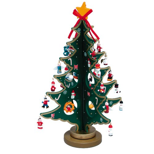 100 attractive wooden christmas tree ideas inhabit zone for Small christmas decorations