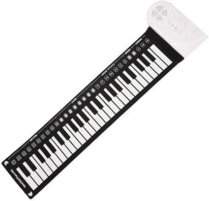 Piano portátil Piano electrónico Digital, Caucho de Silicona ...