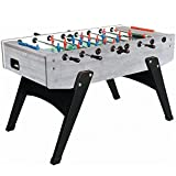 Garlando G-2000 Grey Oak Foosball Table with Telescopic Steel Bars, Ergonomic Handles, Abacus Scorers and 10 Standard Balls