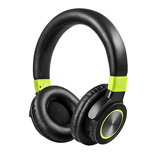 mifo F2 Bluetooth Headphones Over Ear BT 4.1, 50 Hours Long Playtime HiFi Stereo Wireless Headset, Super Comfortable Protein Ear Pads, Wireless&Wired Dual Mode with Built in Mic for iOS/Android/PC
