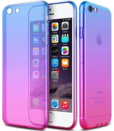iPhone 6s Case,CLONG iPhone 6 6s Cover Colorful Clear Shell Slim Case Translucent Impact Resistant Flexible TPU Soft Bumper Case Protective Shell for Apple iPhone 6/6S 4.7 - 6 Color Ombre Case Iphone