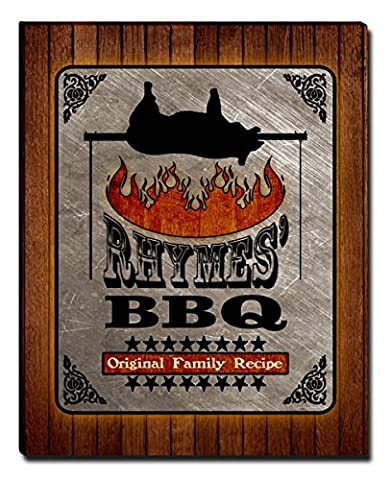 Rhymes's Barbecue BBQ Gallery Wrapped Canvas Print (Cvs Rhymes)