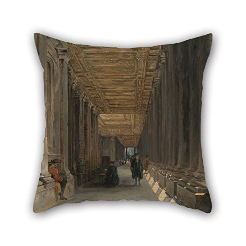 Artistdecor Cushion Covers Of Oil Painting James Holland - The Colonnade Of Queen Mary's House, Greenwich 16 X 16 Inches / 40 By 40 Cm,best Fit For Study Room,shop,festival,car,car Seat,festival (Holland Tulip Festival Costumes)