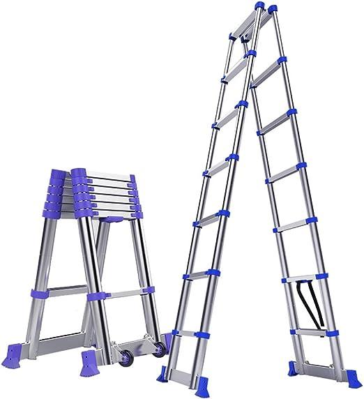 Escalera extensible Escalera telescópica De Aluminio Escalera ...