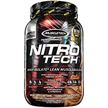 MuscleTech NitroTech Whey Protein Powder, Whey Isolate and Peptides, Mocha Cappuccino, 2 Pound